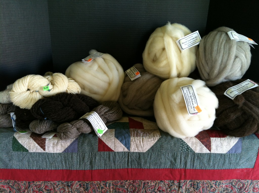 Fig 2 Display of woolen wares for Tour